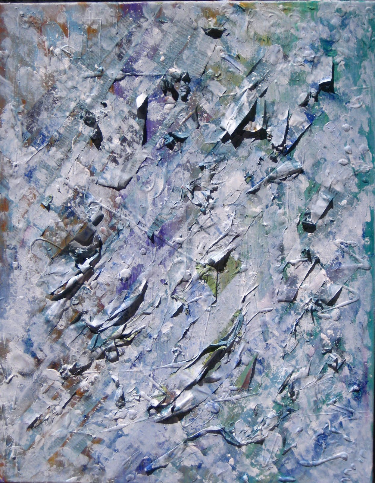 Glacier Abstraction, mixed media on canvas, by Sabrina Brett