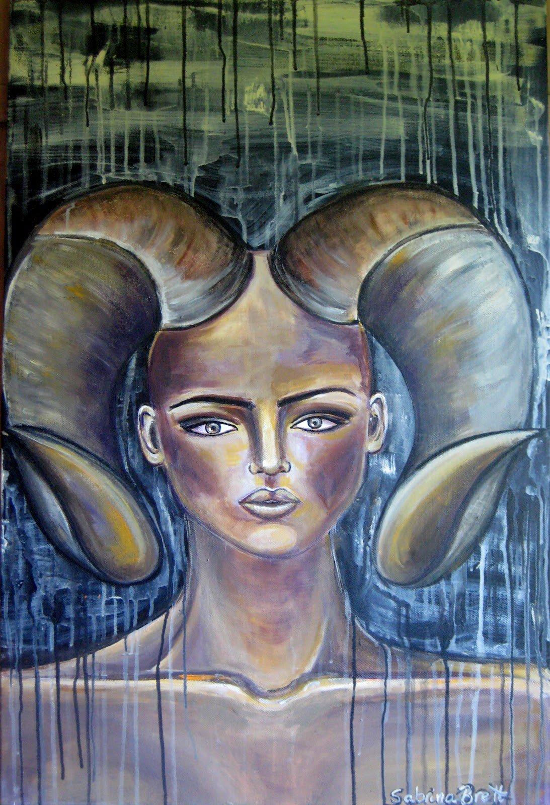 Heaven's Envoy, acrylic on canvas, by Sabrina Brett