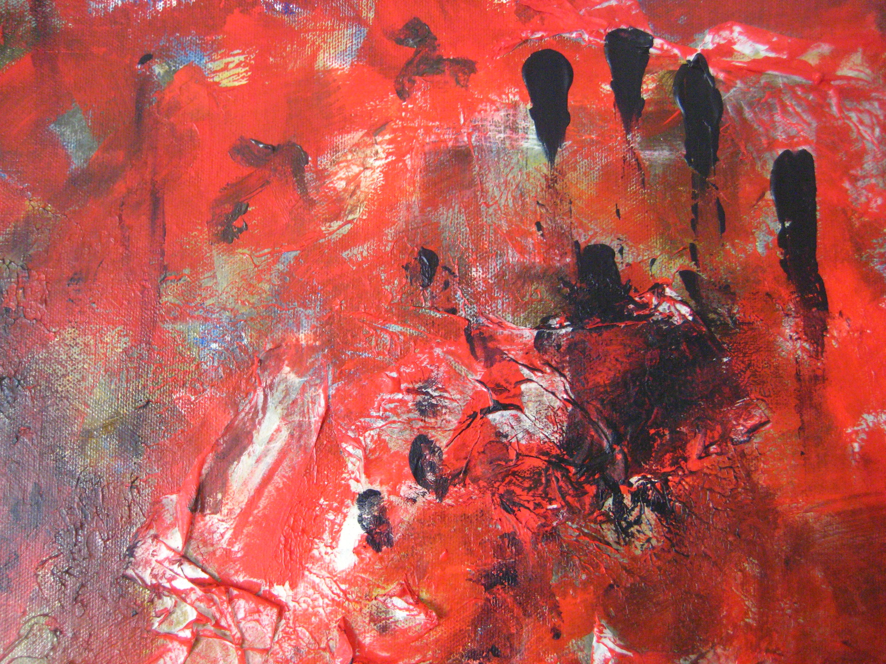 Symphony in Red, Mixed Media on Canvas, by Sabrina Brett 2