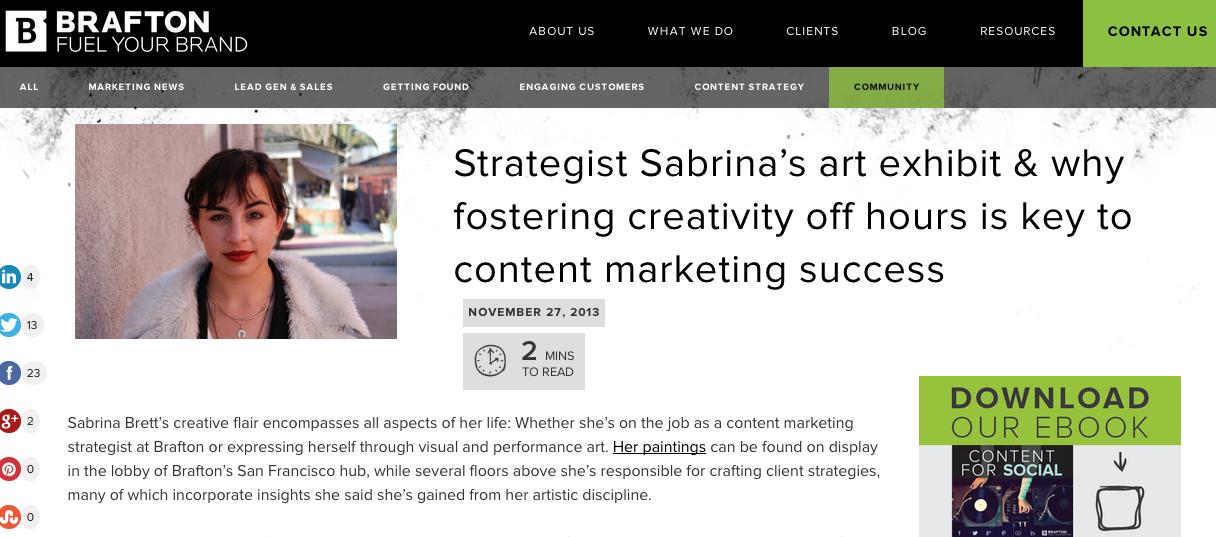 Brafton Interview Sabrina Brett
