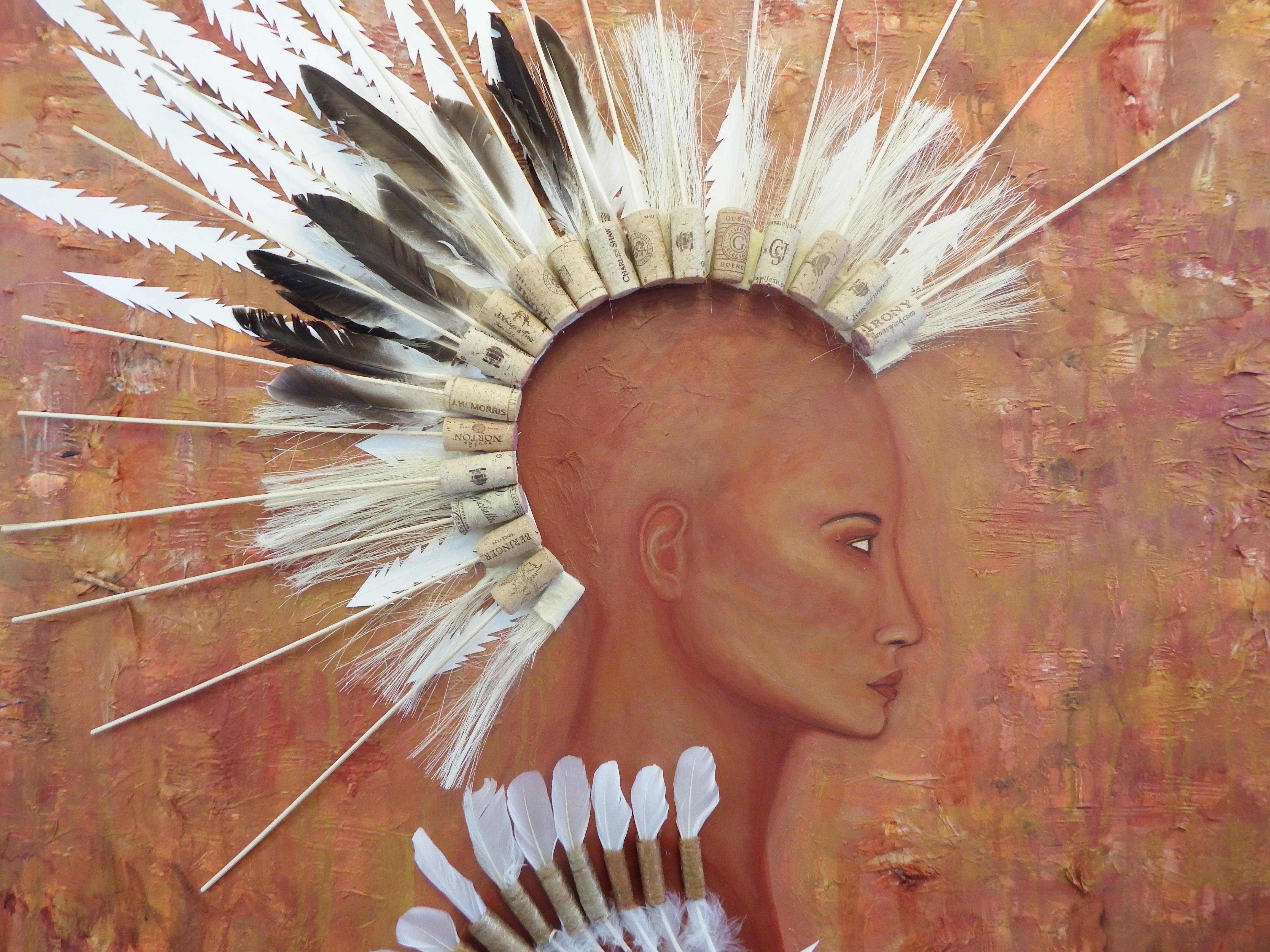 Rising, Mixed Media on Canvas, by Sabrina Brett 3