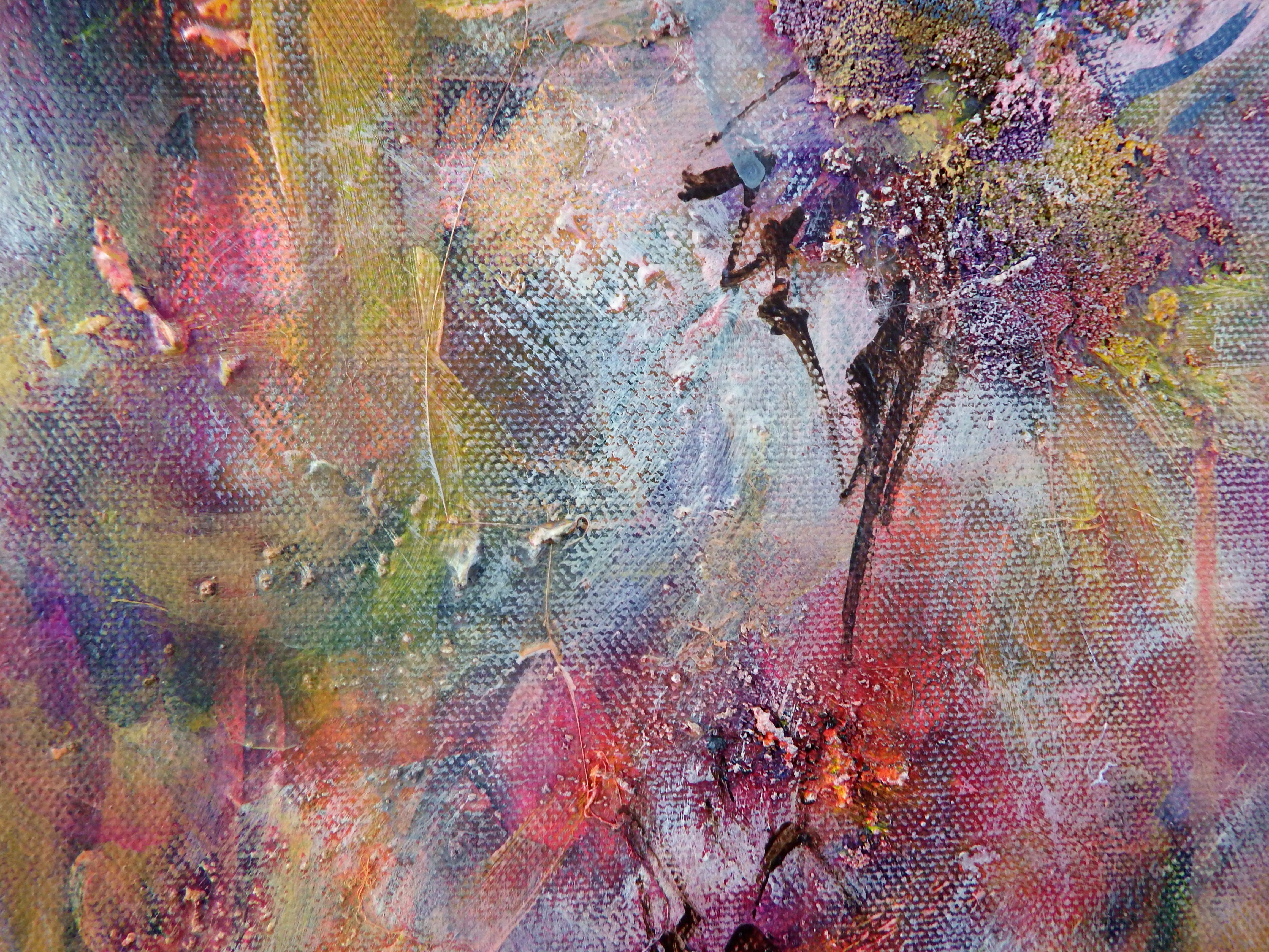 Between the Lilies, Mixed Media on Canvas, by Sabrina Brett 6