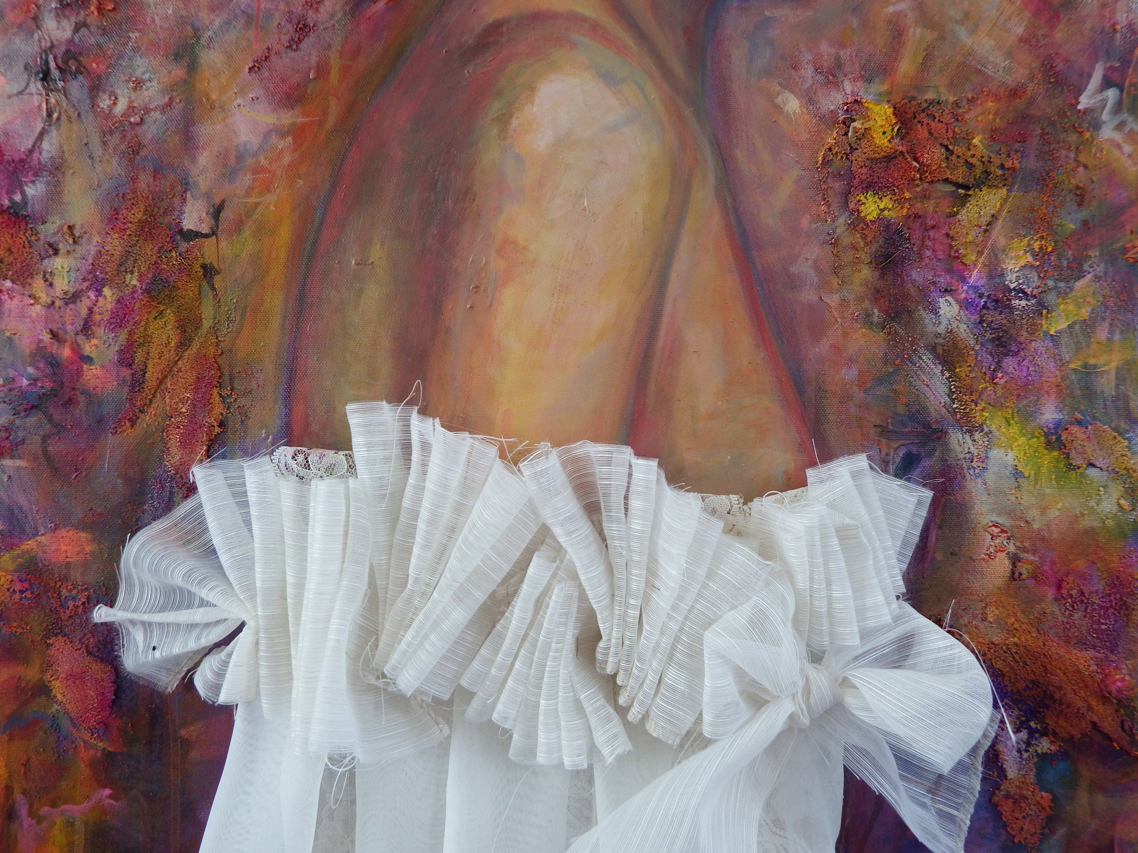 Between the Lilies, Mixed Media on Canvas, by Sabrina Brett 7