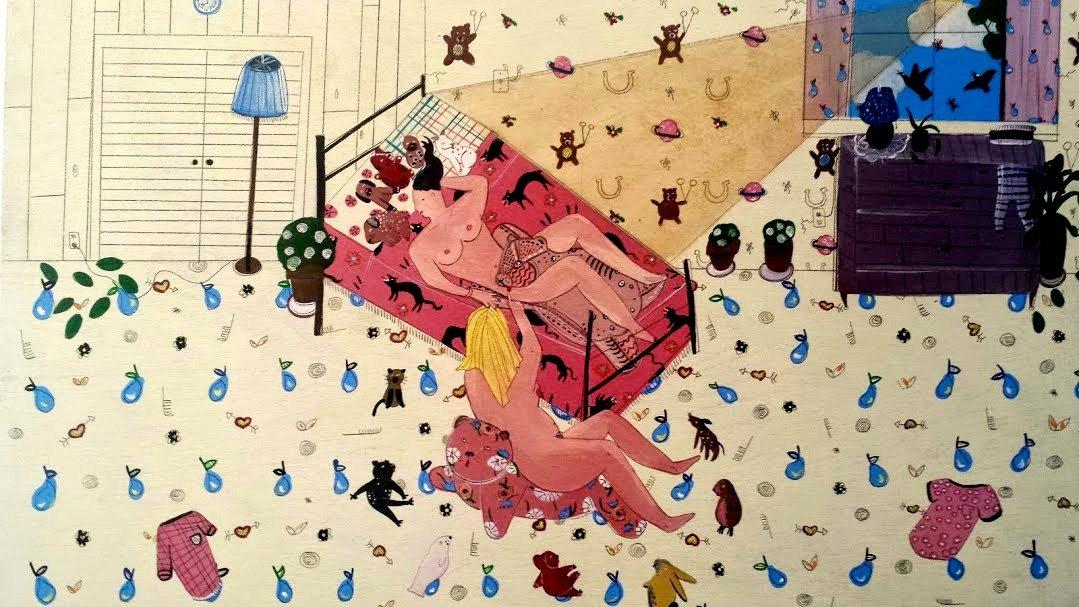 """GODDAMN"" by Greg Gossel; ""Sex in Suburbia"" by Joyce Heimer 6"