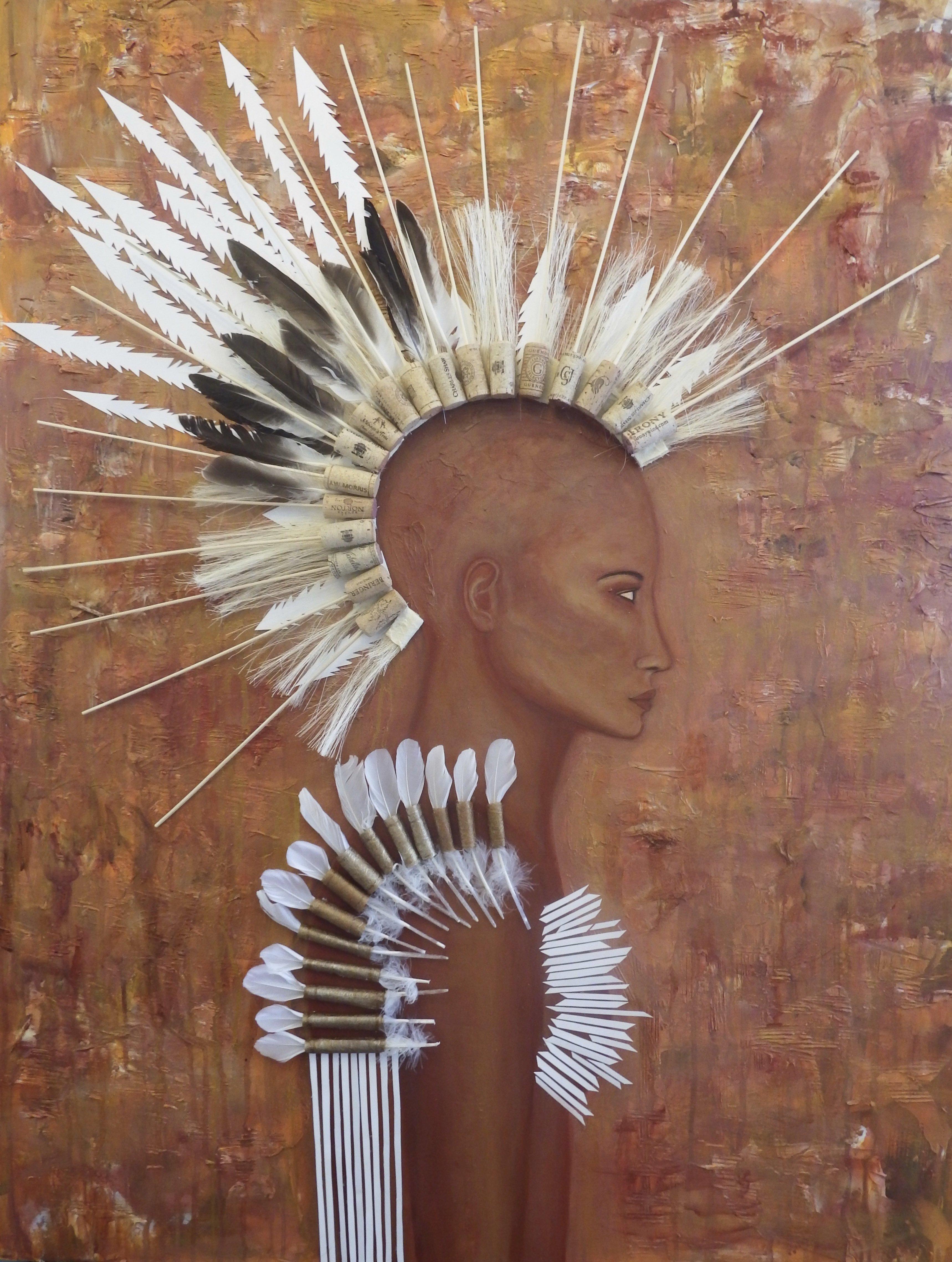 Rising, Mixed Media on Canvas, by Sabrina Brett