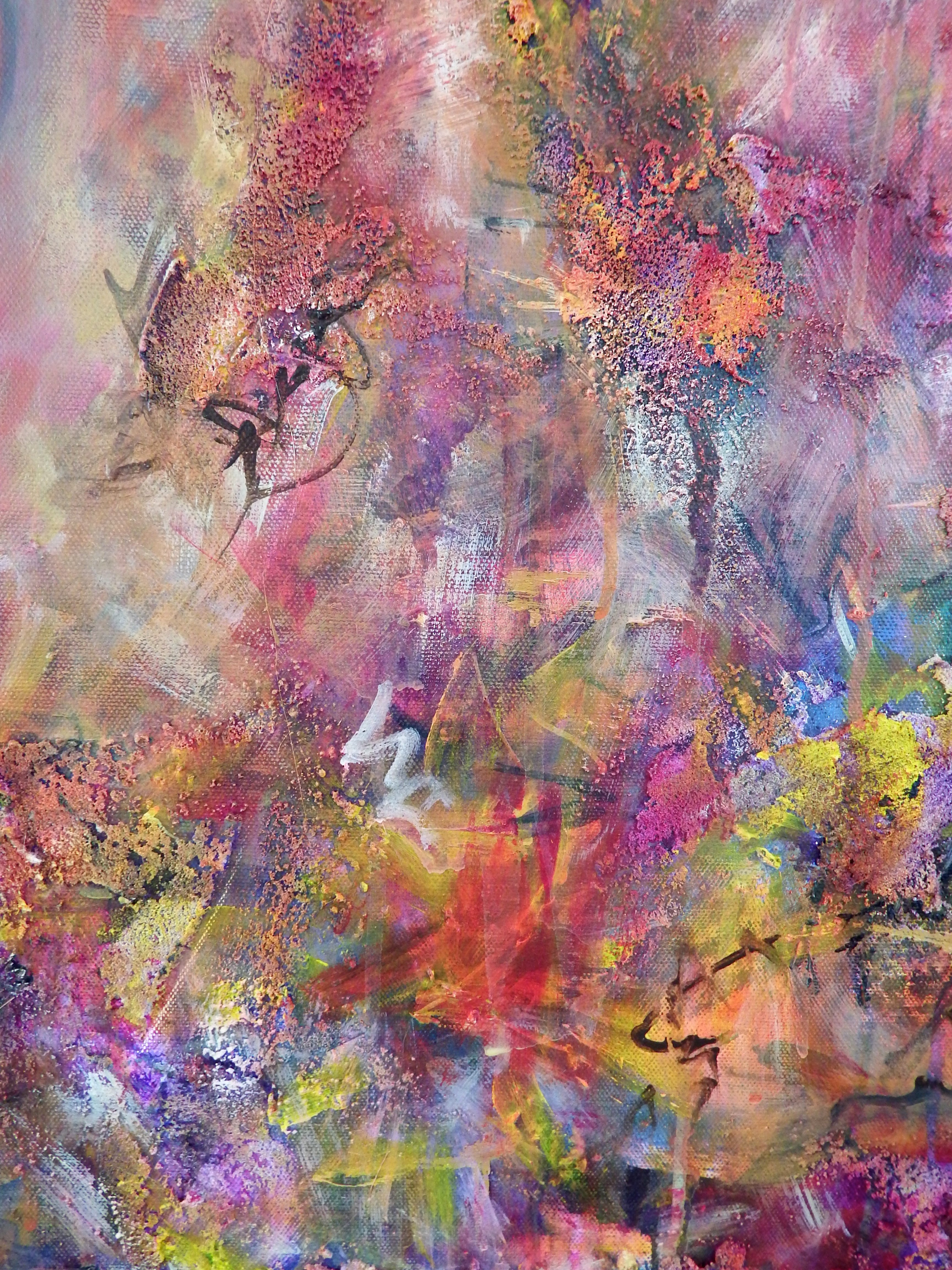 Between the Lilies, Mixed Media on Canvas, by Sabrina Brett 4