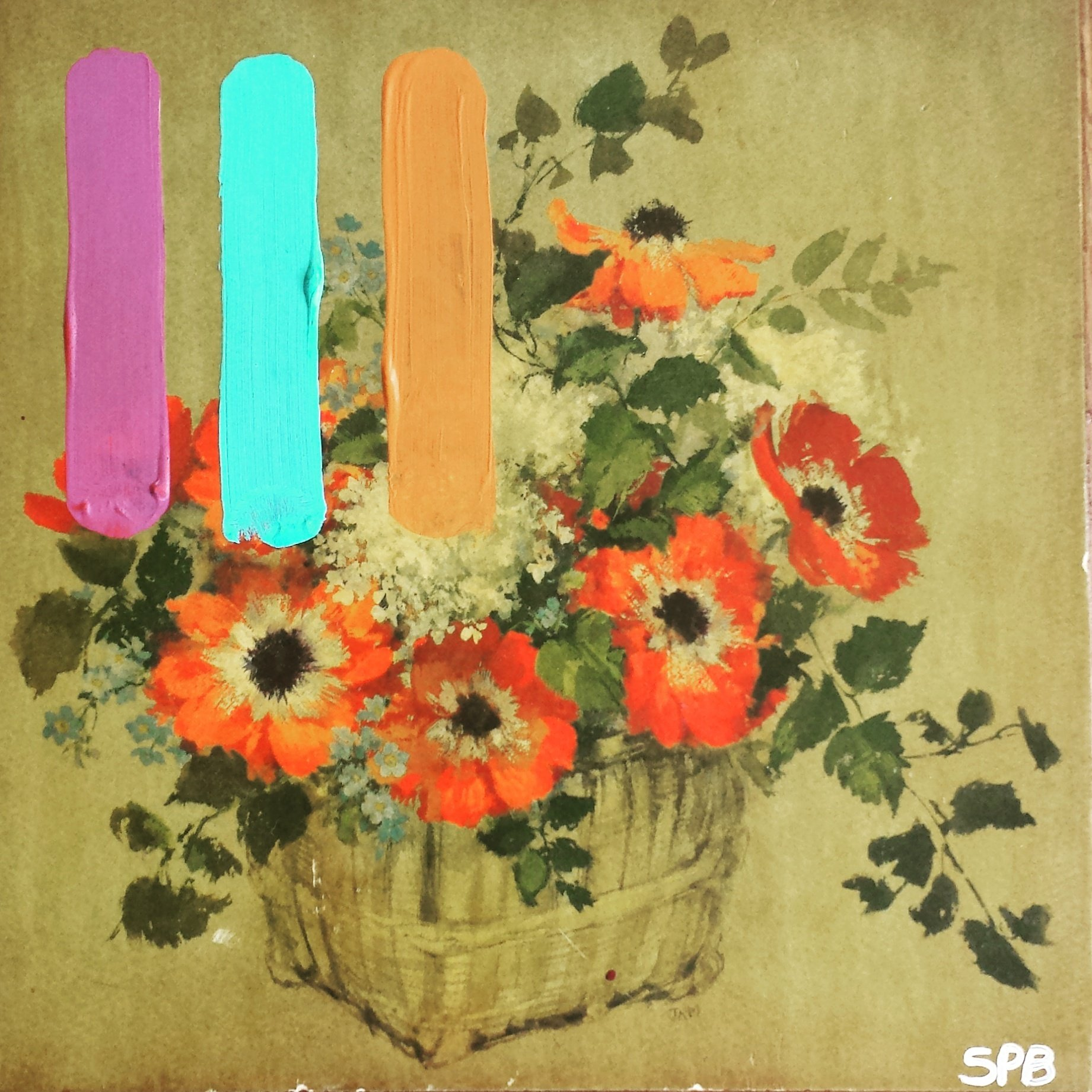 #ProjectArtCycle Flowers and Stripes by Sabrina Brett