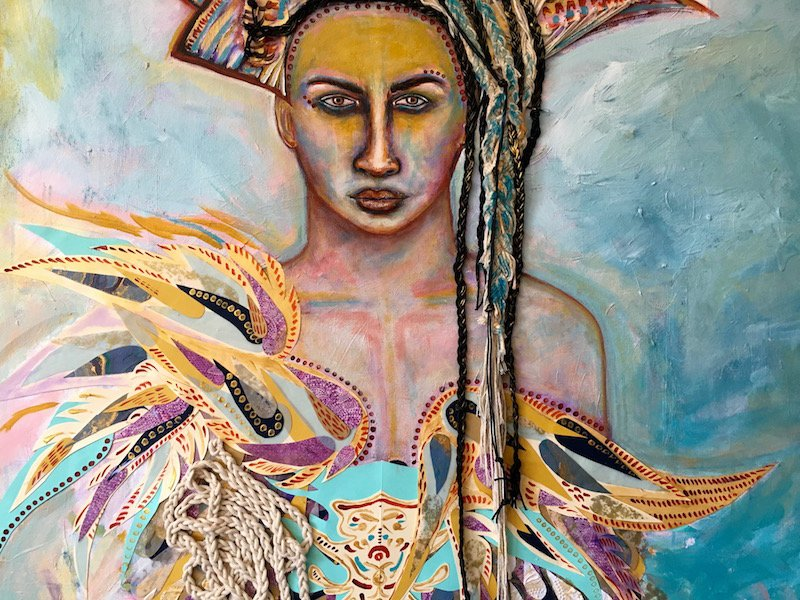Athena, Mixed Media Painting, By Sabrina Brett