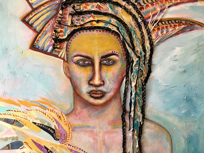 Athena, Mixed Media Painting, By Sabrina Brett