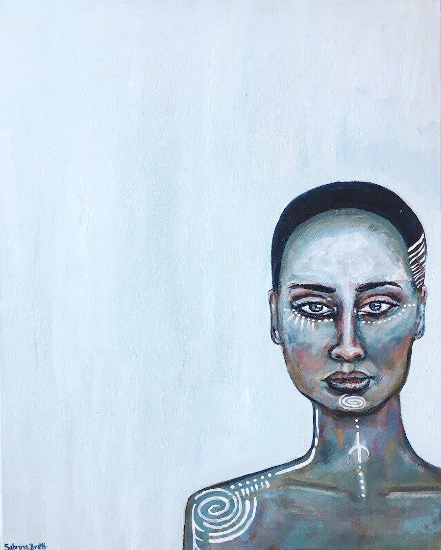 Water, Acrylic on Canvas, by Sabrina Brett